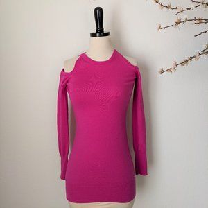 TRINA TURK Sweater Pink Cold Shoulder Wool P 0 XS
